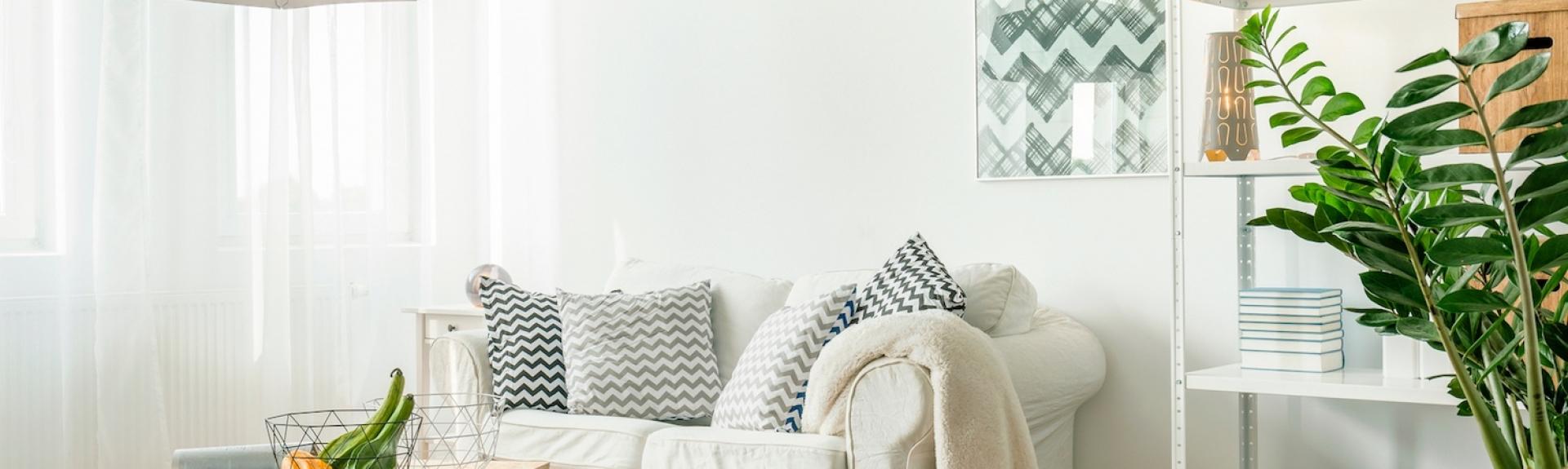 Trendy details in living room